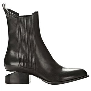 Alexander Wang Leather Anouck Cutout Chelsea Boots